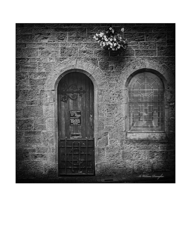 Rectory Door B&W FAM