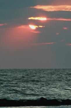 Red Sun Setting